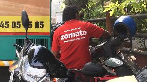 India Zomato Delivery Man