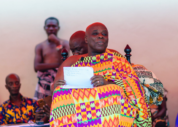 Okyenhene demanded 98 cows and 98 bottles of schnapp to be pacified