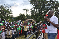 Vice President Amissah-Arthur addressed hundreds of NDC party supporter at the campaign launch