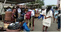 Some stranded parents and children at the school premises
