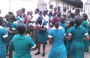 Nurses And Trainees Strike