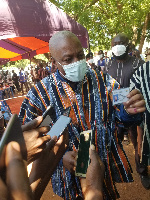 John Mahama registers for his voter card at Bole