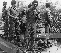 Former President Rawlings led some junior officers to overthrow government and seize power in 1979
