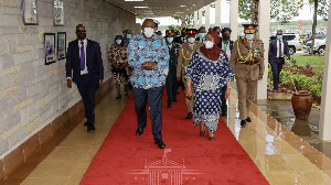 President Uhuru Kenyatta with President Samia Suluhu