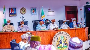 Di Nigeria govnors dey meet for north central Kaduna State