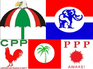 File Photo: Ghana's political parties