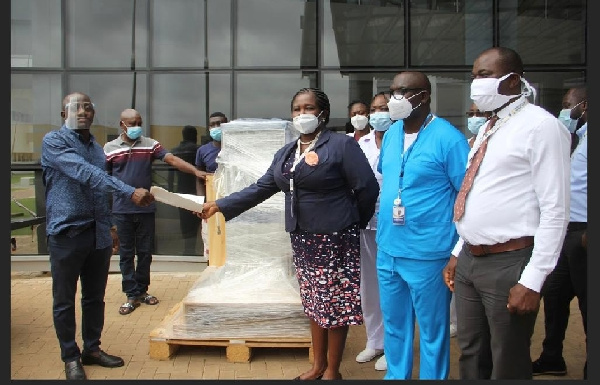 Ibrahim Mahama donates anaesthetic machine to UGMC