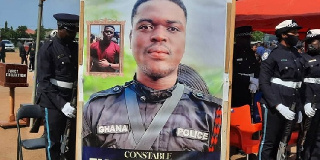 Jamestown bullion van cop promoted to Lance Corporal during funeral