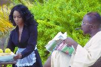 A scene in the video