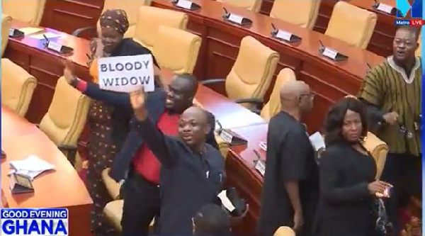 The Minority MPs boycotted the swearing-in of Madam Lydia Alhassan Seyram
