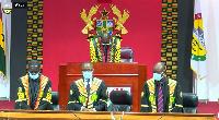 Speaker Bagbin presides over a sitting.