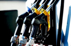 Fuel pumps at display