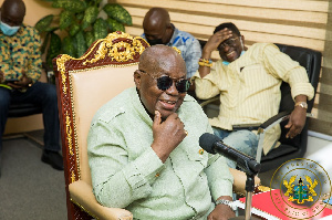 President Akufo-Addo is on a tour of the Volta and Oti regions