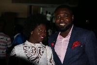 Bernard Adusei -Poku  and wife