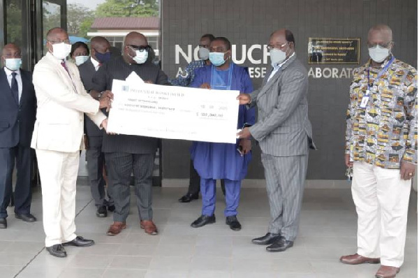 Ghana's Missions abroad support coronavirus fight with $100,000