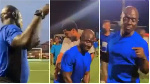 Dancing referee excites players, fans