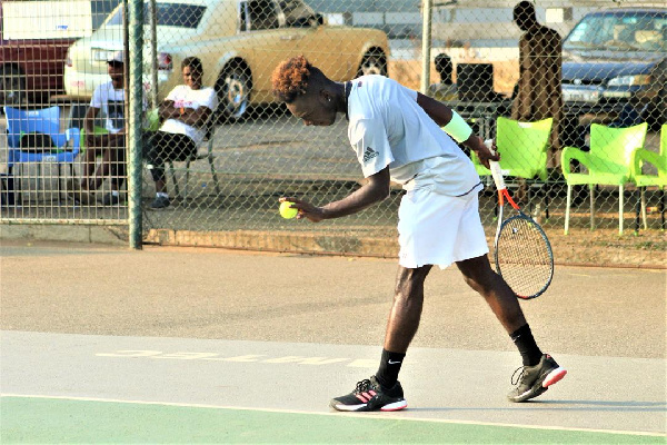 Benjamin Palm in his elements on the court