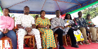 Prof. Frimpong Boateng with other ministers at the launch