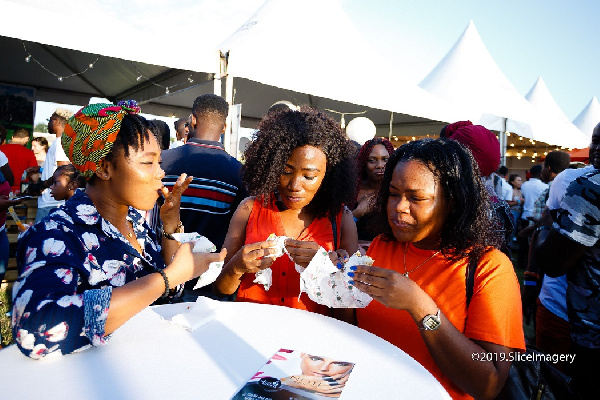 Some persons enjoying themselves at the festival
