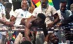 Ghanaian boxer Alfred Lamptey  fought against Tanzania boxer Iddi Kayumba