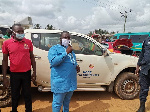 Akontombra District Assembly presents PPE to market women and commercial drivers
