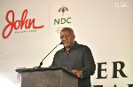 Mahama hints of comeback in 'first' outing after defeat