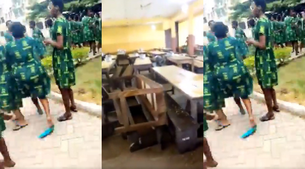 Disappointed Tweneboah Kodua SHS students destroy school properties over failed 'apor'