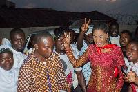 Former Ghanaian actress/communications expert, Ebi Bright (Right)