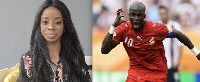 Vanessa Gyan and Stephen Appiah