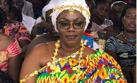 Ursula Owusu-Ekuful was given the title of Nkosuohemaa for her contribution to people of Akyem Asuom