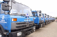 Some 150 compacting trucks were outdoored by Zoomlion Friday