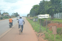 The Hansua road project was awarded to Messrs. Kofi Job Company Ltd in 2011 at GH¢6,231,283