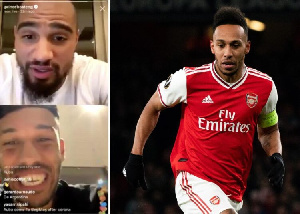 Pierre-Emerick Aubameyang and Kevin-Prince Boateng
