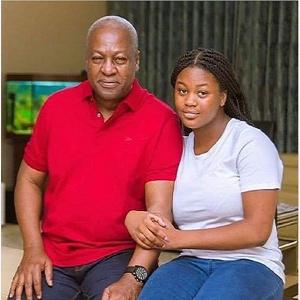 Former President, John Dramani Mahama and his daughter Farida Mahama