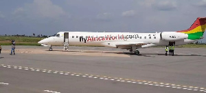Africa World Airline completed its first commercial flight, with its Embraer 145 to the Ho Airport