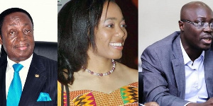 Dr Kwabena Duffuor, Dr Zanetor Agyeman-Rawlings and Ato Forson