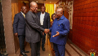 The two, Former President Mahama (l) and President Akufo-Addo (r) in previous times