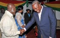 Nana Akufo-Addo and John Mahama exchange pleasantries
