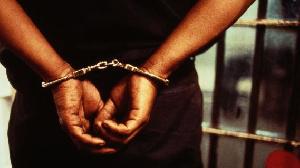 Police arrest man.