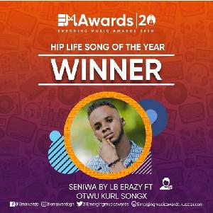 Ghanaian artiste, LB Erazy won a double on the night