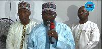 Dr. Mahamudu Bawumia speaking at a mosque in the Eastern Region during his Ramadan tour
