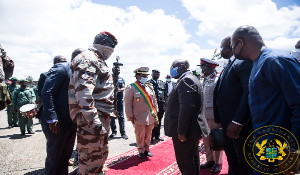 The president with other ECOWAS members in Guinea