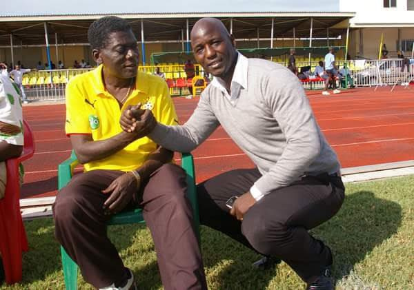 The late Sam Arday and former Ghana international Anthony Baffoe