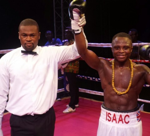 Dogboe (right) is declared champion after stopping his opponent