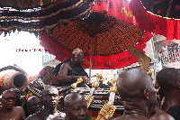 Otumfuo in his palanquin