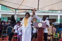 President Akufo-Addo and Dome-Kwabenya NPP Parliamentary Candidate Adwoa Safo