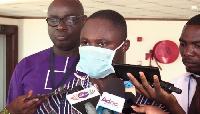 Kwabena Mintah Akandoh speaking to the media