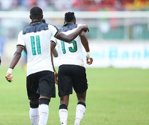 Asamoah Gyan and Raphael Dwamena