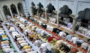 A group of Muslims praying in a mosque. File photo