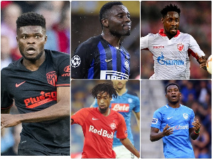 Ghanaian players in the Champions league